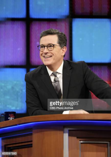 The Late Show with Stephen Colbert airing Monday January 30 2017 with guests Leslie Mann Lewis Black and Dan Levy