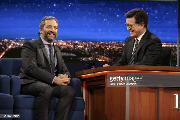 The Late Show with Stephen Colbert airing Monday March 6 2017 with Judd Apatow