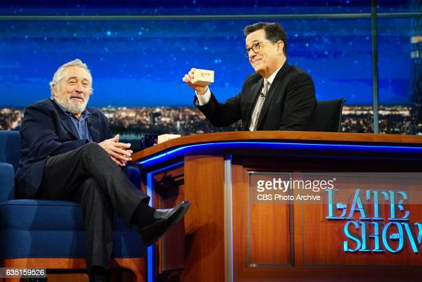 The Late Show with Stephen Colbert airing Wednesday February 8 2017 with guest Robert De Niro