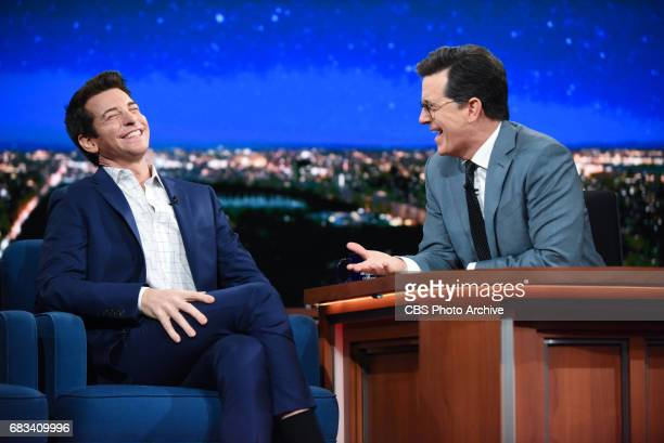 The Late Show with Stephen Colbert and guest Andy Karl during Thursday's May 11 2017 show