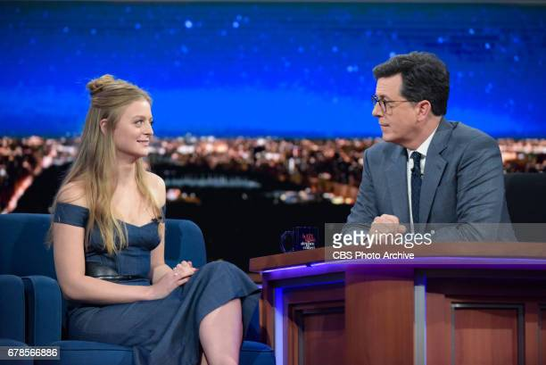 The Late Show with Stephen Colbert and guest Anna Baryshnikov during Friday's 4/28/20 show