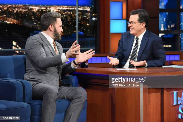 The Late Show with Stephen Colbert and guest Ben Affleck during Thursday's November 16 2017 show