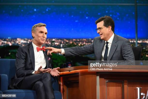 The Late Show with Stephen Colbert and guest Bill Nye during Monday's May 8 2017 show