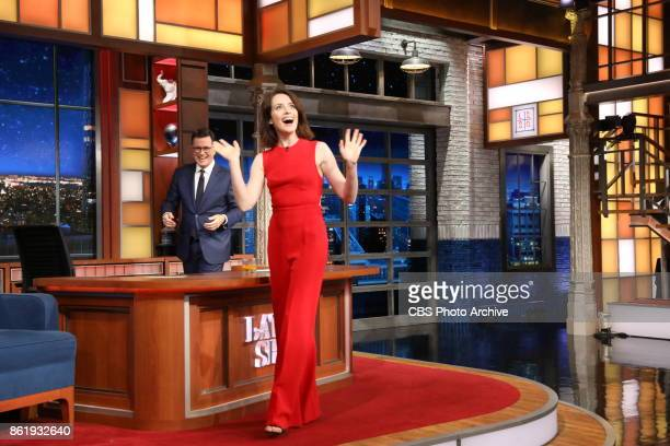 The Late Show with Stephen Colbert and guest Claire Foy during Thursday's October 12 2017 show