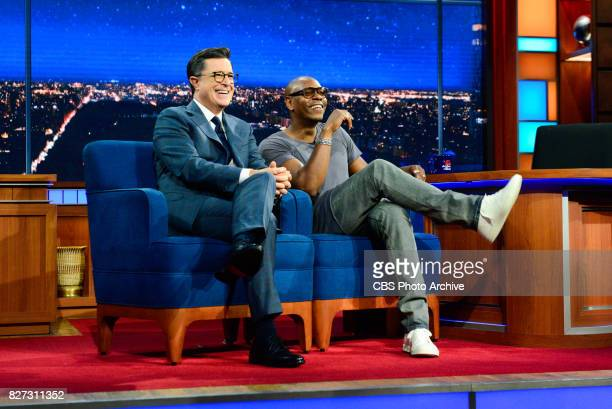 The Late Show with Stephen Colbert and guest David Chappelle during Wednesday's August 2 2017 show