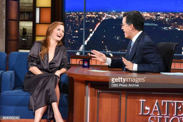 The Late Show with Stephen Colbert and guest Grace Gummer during Thursday's October 5 2017 show