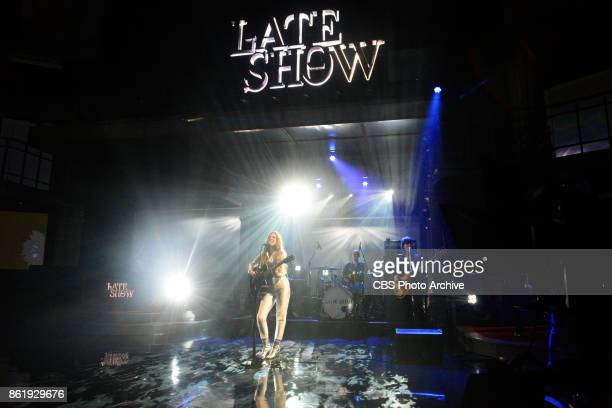 The Late Show with Stephen Colbert and guest Jade Bird during Tuesday's October 10 2017 show