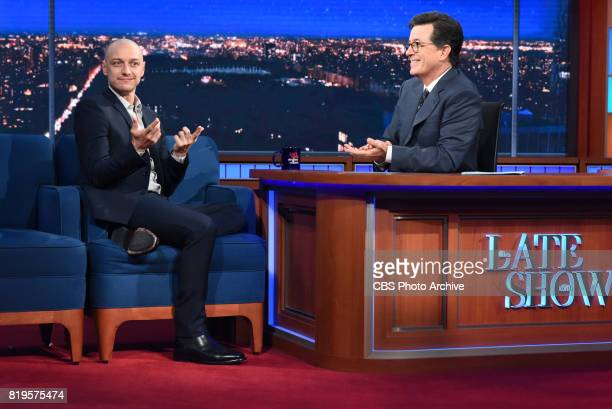 The Late Show with Stephen Colbert and guest James McAvoy during Wednesday's July 19 2017 show