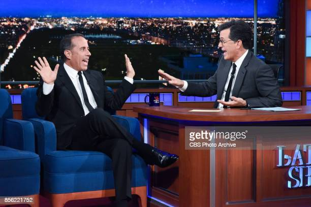 The Late Show with Stephen Colbert and guest Jerry Seinfeld during Friday's September 29 2017 show