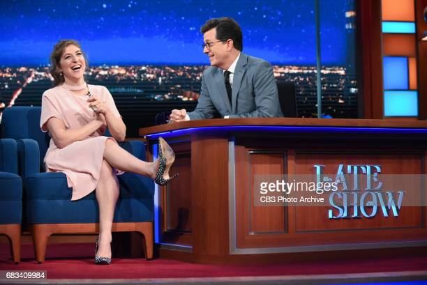 The Late Show with Stephen Colbert and guest Mayim Bialik during Thursday's May 11 2017 show
