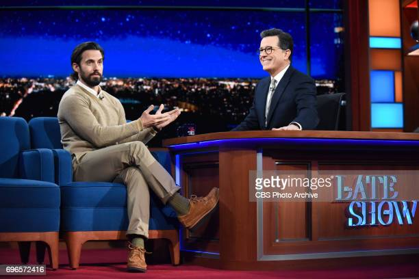 The Late Show with Stephen Colbert and guest Milo Ventimiglia during Thursday's June 15 2017 show