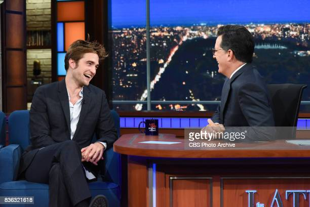 The Late Show with Stephen Colbert and guest Robert Pattinson during Wednesday's August 9 2017 show
