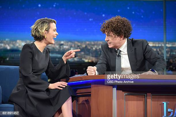 The Late Show with Stephen Colbert and guest Sarah Paulson during Monday's 01/16/16 show in New York