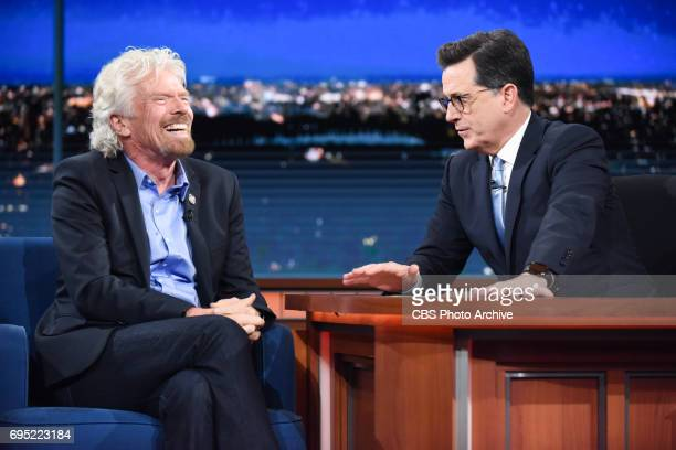 The Late Show with Stephen Colbert and guest Sir Richard Branson during Thursday's June 8 2017 show