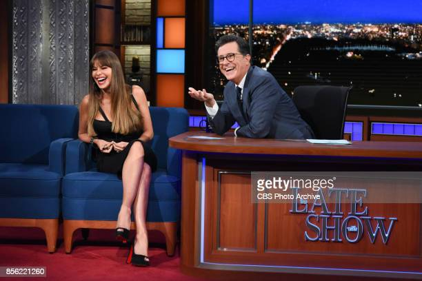 The Late Show with Stephen Colbert and guest Sofia Vergara during Tuesday's September 26 2017 show
