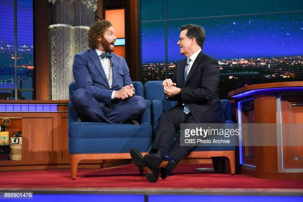 The Late Show with Stephen Colbert and guest TJ Miller during Monday's June 12 2017 show