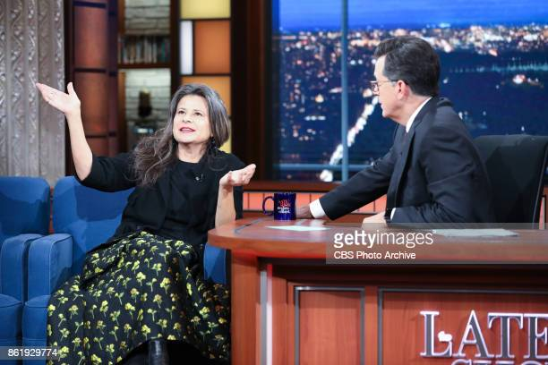 The Late Show with Stephen Colbert and guest Tracy Ullman during Wednesday's October 11 2017 show