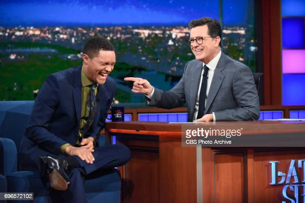 The Late Show with Stephen Colbert and guest Trevor Noah during Wednesday's June 14 2017 show