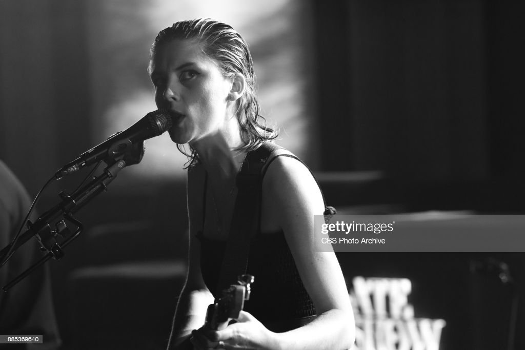 The Late Show with Stephen Colbert and guest Wolf Alice during Thursday's December 1, 2017 show.