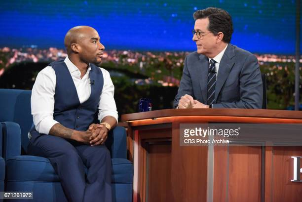 The Late Show with Stephen Colbert and guests Alec Baldwin Charlamagne Tha God Moshe Kasher Taj Mahal Keb' Mo' for Tuesday's 04/18/17 show in New York