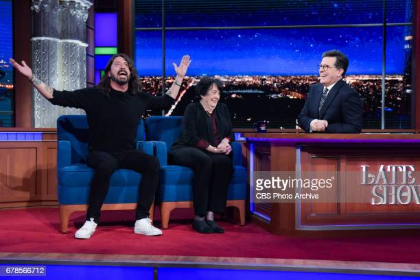 The Late Show with Stephen Colbert and guests Dave Virginia Grohl during Wednesday's 4/26/20 show
