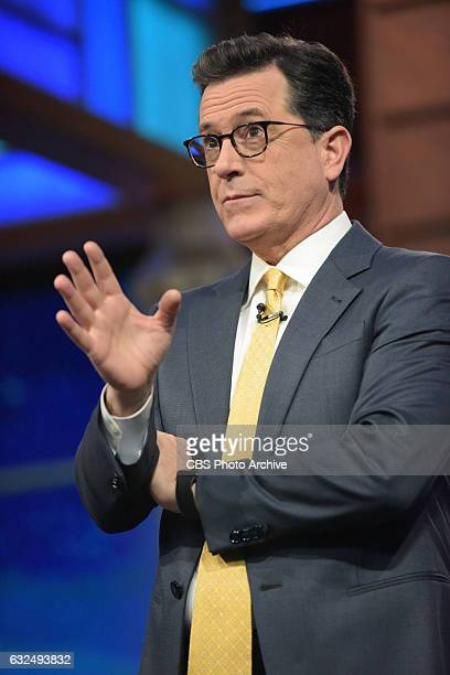 The Late Show with Stephen Colbert during Friday's 01/20/16 show in New York