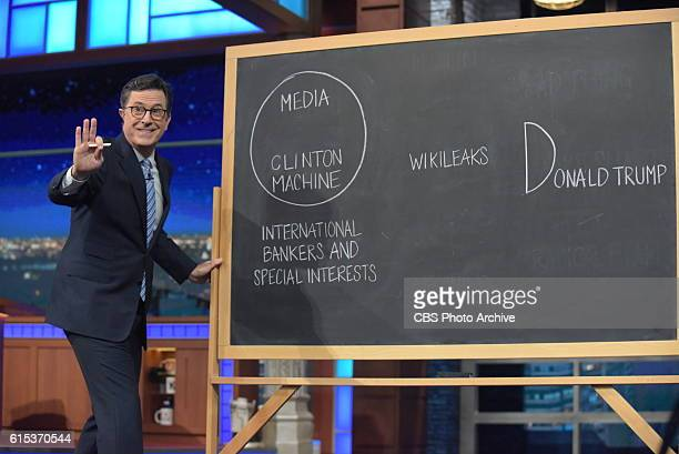 The Late Show with Stephen Colbert during Monday's 10/17/16 taping in New York