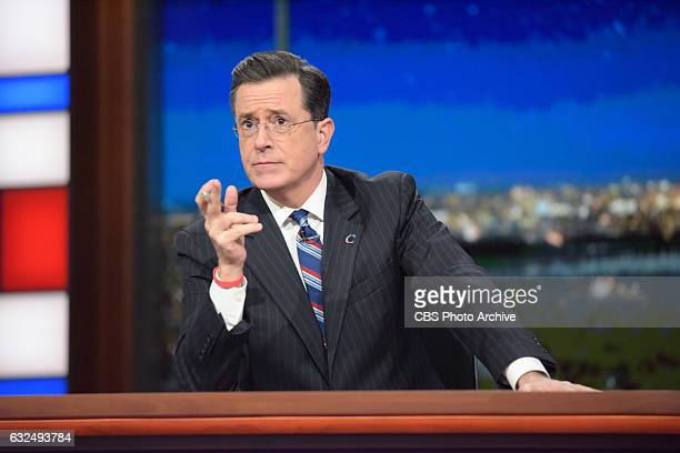 The Late Show with Stephen Colbert during Thursday's 01/19/16 show in New York