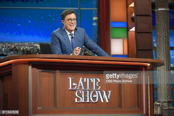 The Late Show with Stephen Colbert during Thursday's 9/29/16 show in New York
