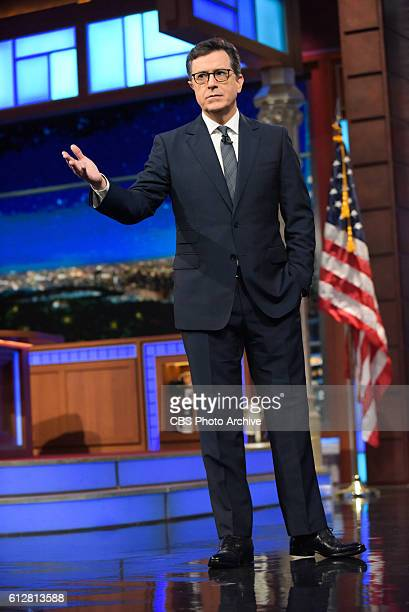 The Late Show with Stephen Colbert during Tuesday's 10/04/16 show in New York