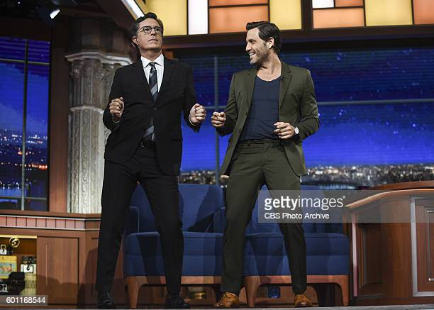 The Late Show with Stephen Colbert Guest Actor Edgar Ramirez on the Wednesday August 24th taping in New York