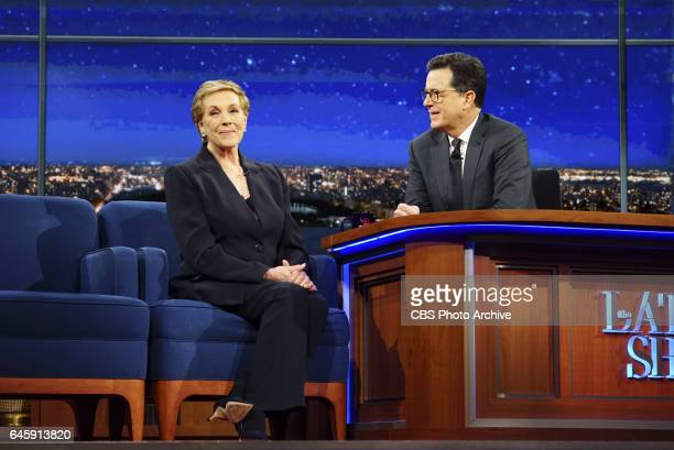 The Late Show with Stephen Colbert on Friday Feb 17 2017 with guests Julie Andrews Christina Hendricks