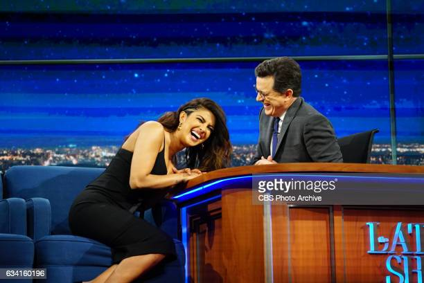 The Late Show with Stephen Colbert on Friday February 3 2017 with guest Priyanka Chopra