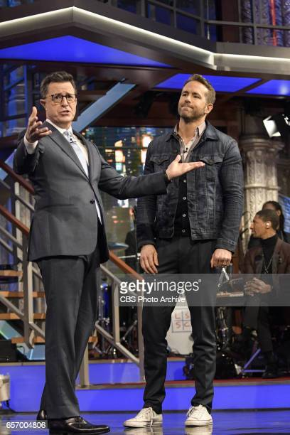 The Late Show with Stephen Colbert on Tuesday March 21 2017 with guest Ryan Reynolds