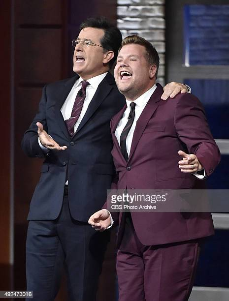 The Late Show with Stephen Colbert welcomed Late Late Show host James Corden during Friday's 10/9/15 taping in New York They performed a Me and My...