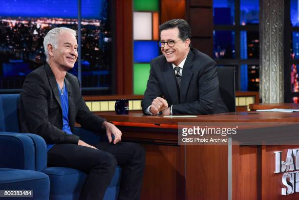The Late Show with Stephen Colbert with guest John McEnroe during Tuesday's June 27 2017 show