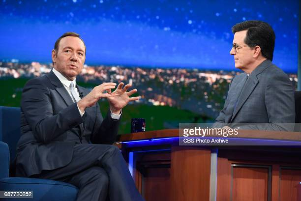The Late Show with Stephen Colbert with guest Kevin Spacey during Tuesday's May 23 2017 show