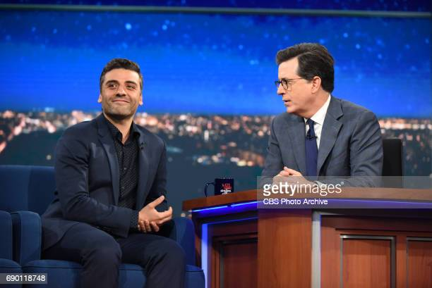 The Late Show with Stephen Colbert with guest Oscar Isaac during Thursday's May 25 2017 show