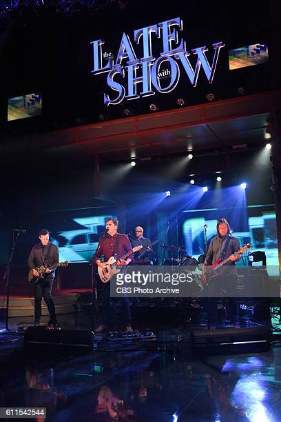 The Late Show with Stephen Colbert with Jimmy Eat World during Thursday's 9/29/16 show in New York