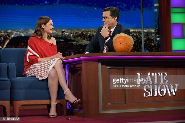 The Late Show with Stephen Colbert with Ruth Wilson during Monday's 10/31/16 show in New York