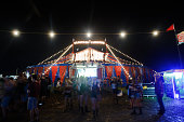 The latenight Electric Thunder tent on day 3 of Country Thunder Wisconsin on July 23 2016 in Twin Lakes Wisconsin