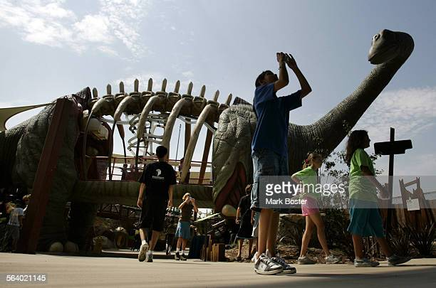 – The latest exhibit at the Discovery Science Center in Santa Ana features an outdoor two–story tall Argentinosaurus that allows the visitor to walk...