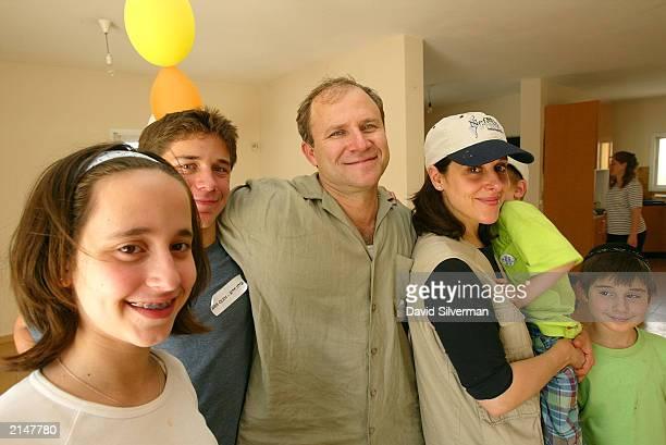 The Laufer family Talya 13yearsold Dani 15yearsold Yehuda Tamara Noam fiveyearsold and Ezra nineyearsold get comfortable in their new home July 9...