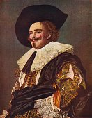 The Laughing Cavalier 1624 Painting held at The Wallace Collection London From The Outline of Art edited by Sir William Orpen KBE RA RI [George...