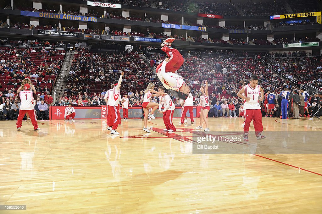 The Launch Crew of the Houston Rockets perform during the game against the Los Angeles Clippers on January 15, 2013 at the Toyota Center in Houston, Texas.