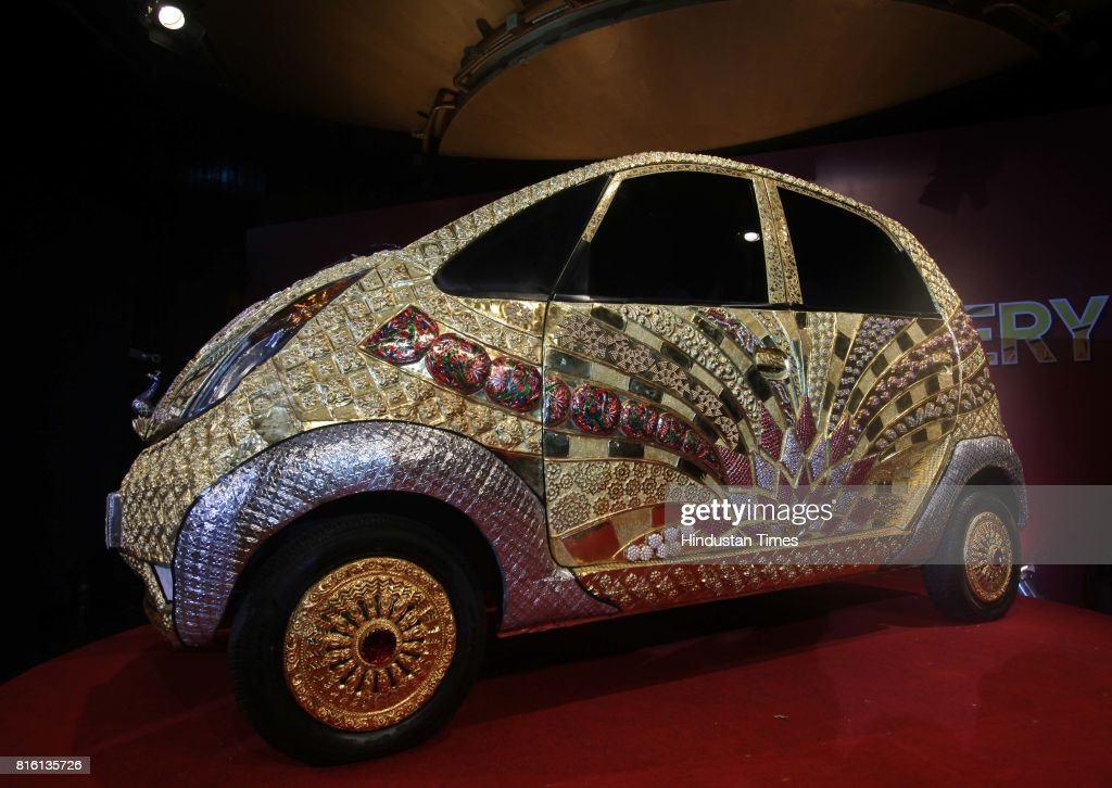 The launch of Goldplus Nano Car at NCPA at Nariman Point on Monday.Goldplus Nano, world's first ever pure gold jewellery car.Goldplus car is tribute to thw nation acknowledging 5000 years of Indian jewellery making.