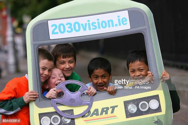 The launch of the website www2030visionie in Merrion Square Dublin attended by school children from St Mary's National School Ballsbridge