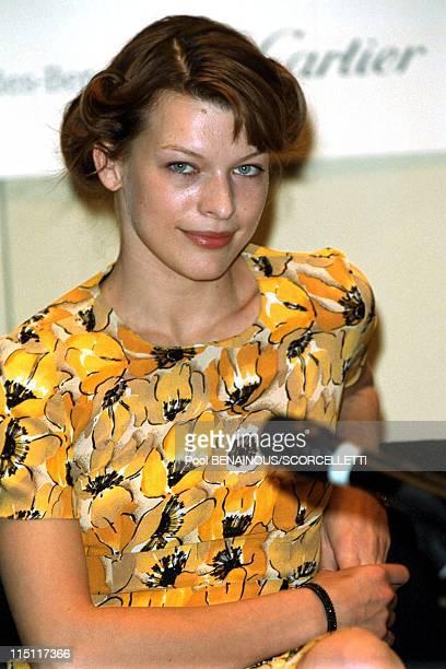 The Laureus sports awards in Monaco City Monaco on May 24 2000 Milla Jovovich