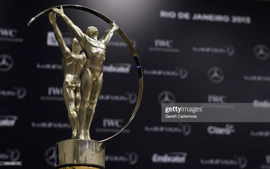 The Laureus Trophy at the Sport and Development in Rio De Janerio Press Conference during the 2013 Laureus World Sports Awards on March 10, 2013 in Rio de Janeiro, Brazil.