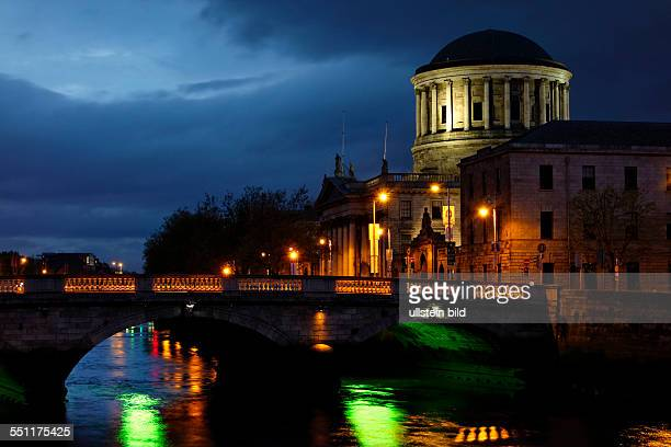 The Law Courts Inns Quay River Liffey Dublin Republic of Ireland Europe